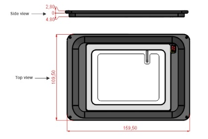 H601-K-FRAME-GLASS-RECESSED-Dimensions